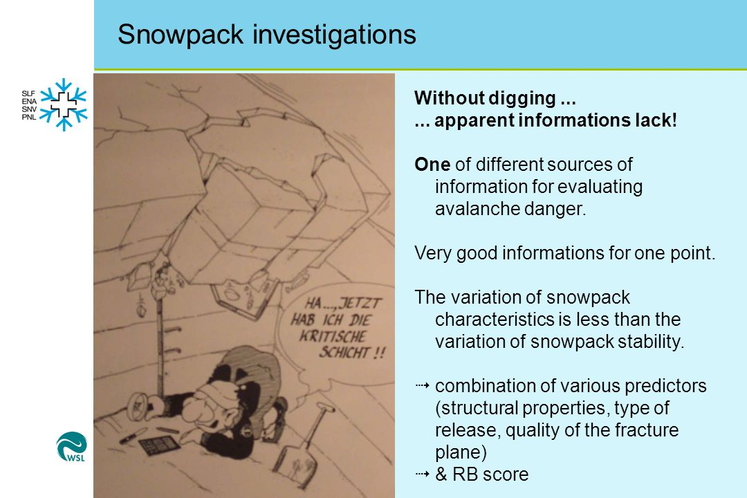 Snowpack investigations Without digging......apparent informations lack.
