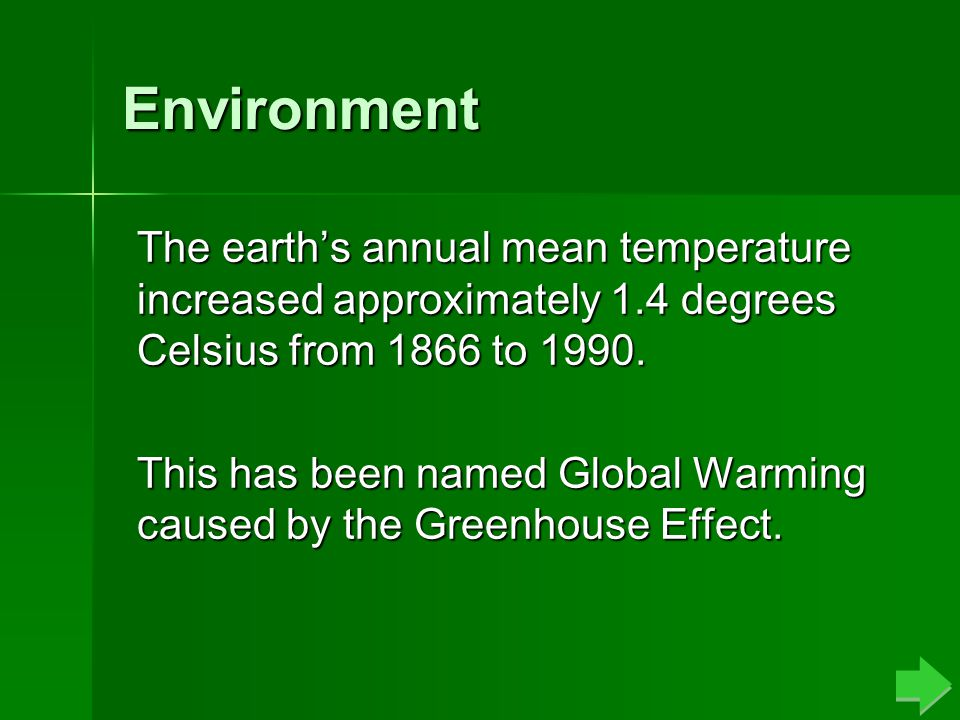 Greenhouse Effect Carbon Dioxide trapped within the atmosphere is causing the heat from the Sun to remain within the atmosphere, which slowly warms the earth causing what is known as the Greenhouse Effect.