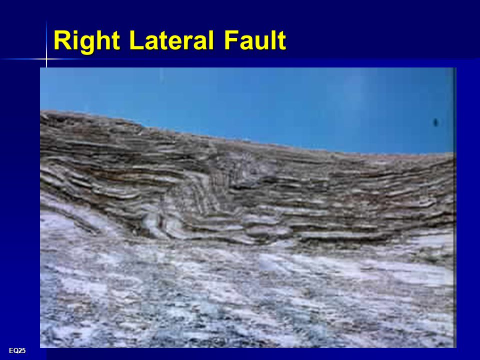 EQ25 Right Lateral Fault