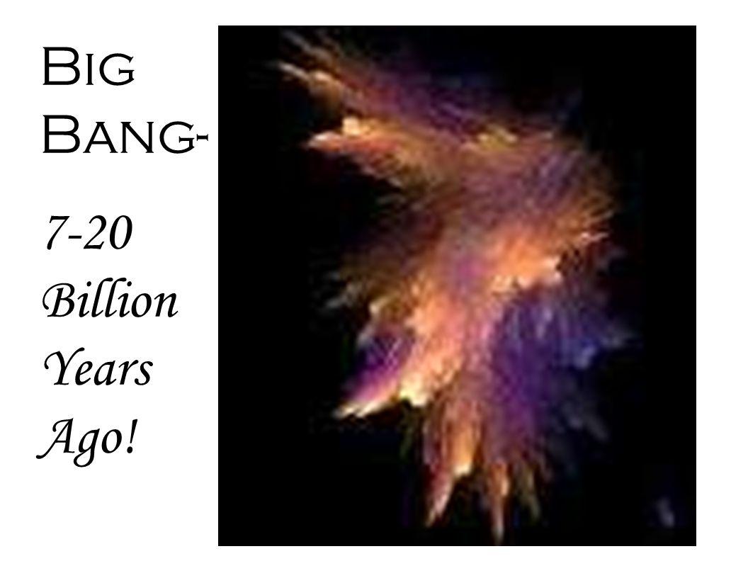 Big Bang- 7-20 Billion Years Ago!