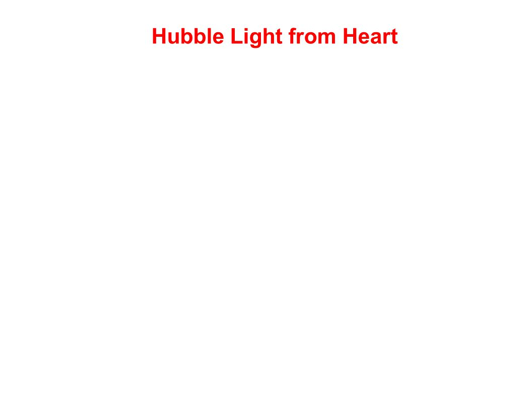 Hubble Light from Heart