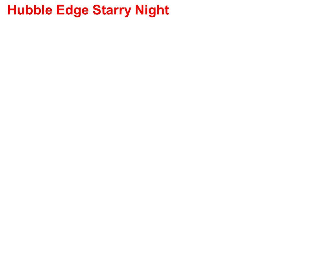 Hubble Edge Starry Night