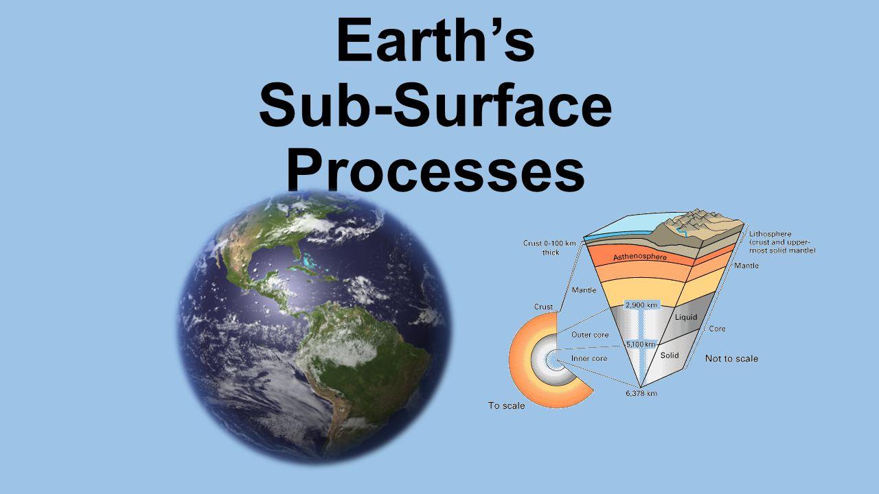 Earth's Sub-Surface Processes