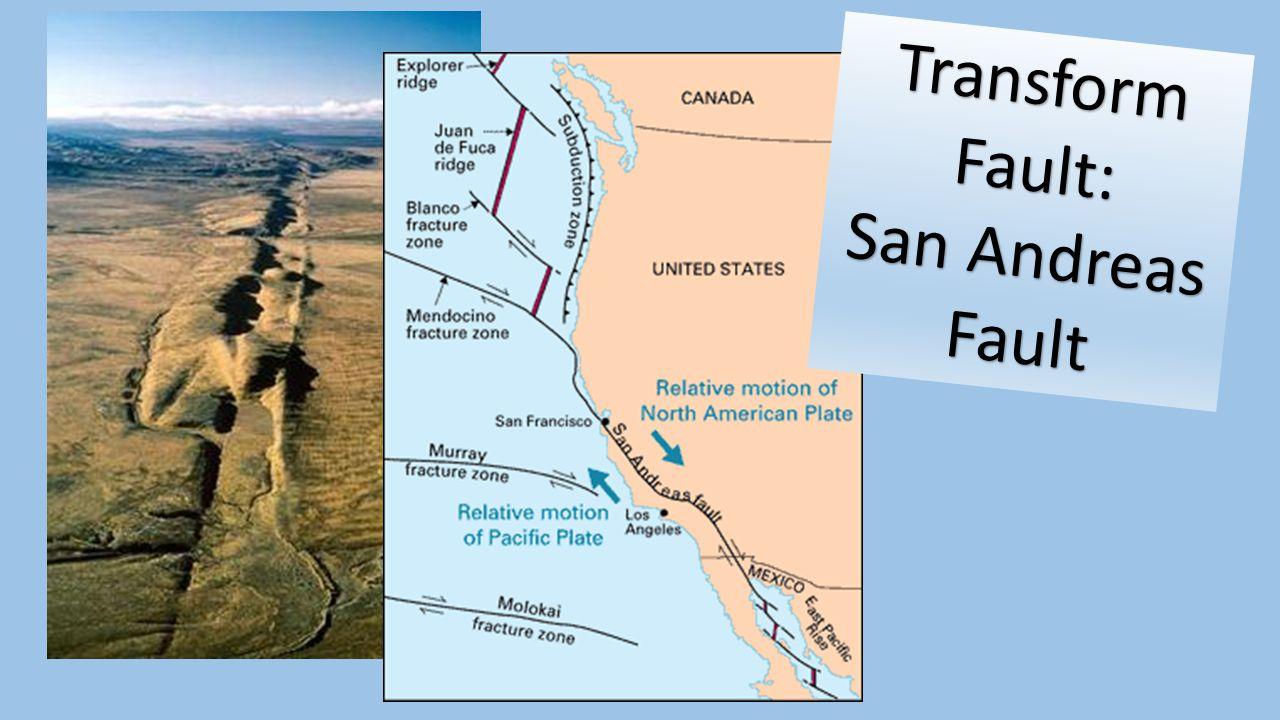 Transform Fault: San Andreas Fault