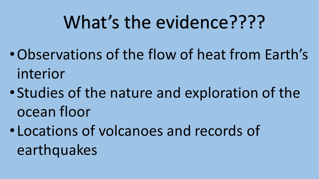 What's the evidence???.