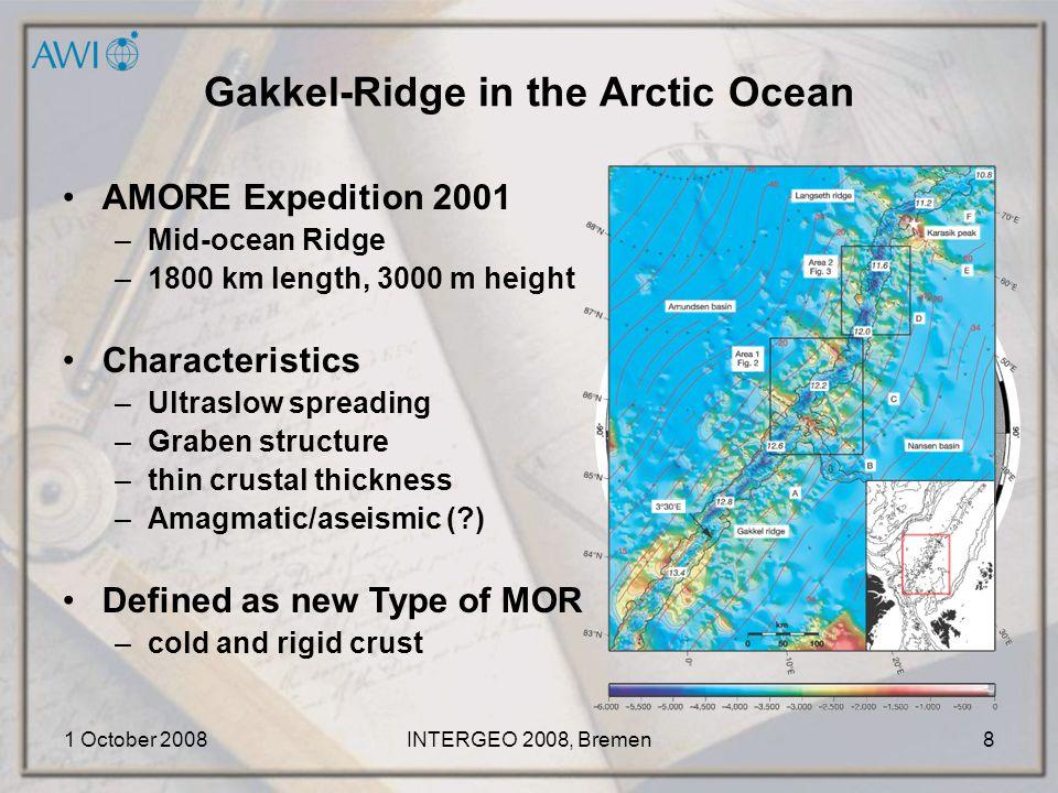 1 October 2008INTERGEO 2008, Bremen9 IBC of the Weddell Sea Bathymetric Data: GEBCO GDA IHO DCDB and HOs MB-Daten Topographic Data: ADD 1.94, 1994