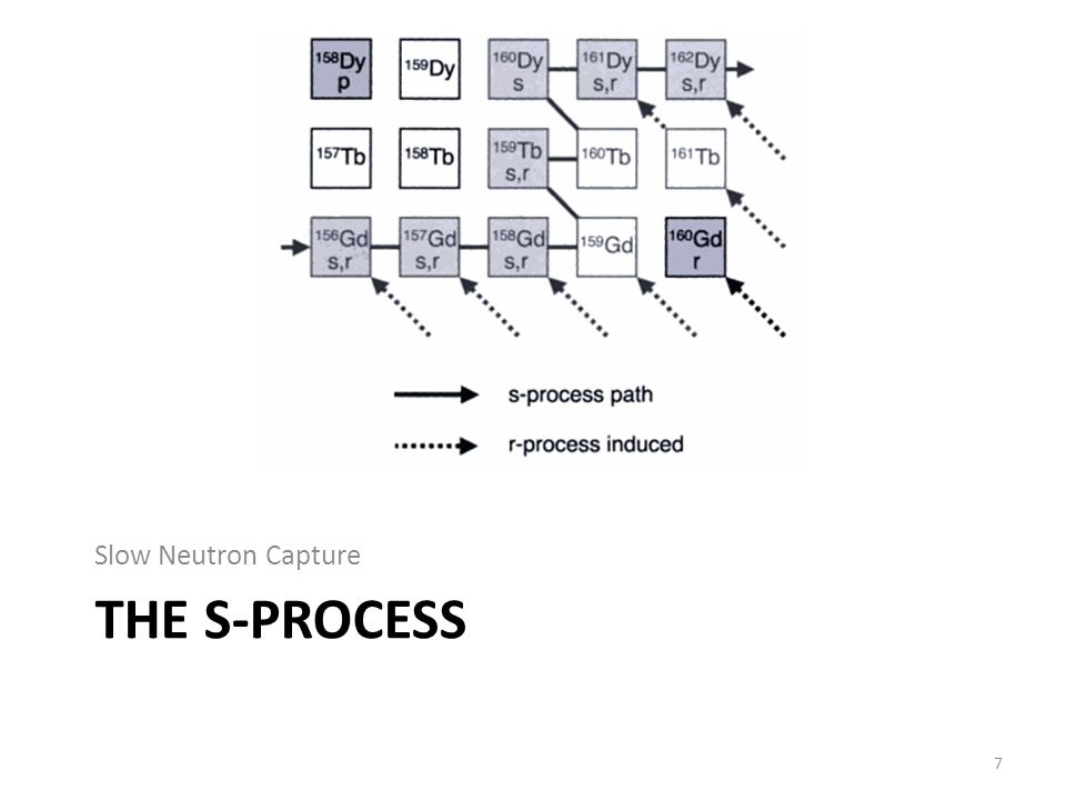 THE S-PROCESS Slow Neutron Capture 7