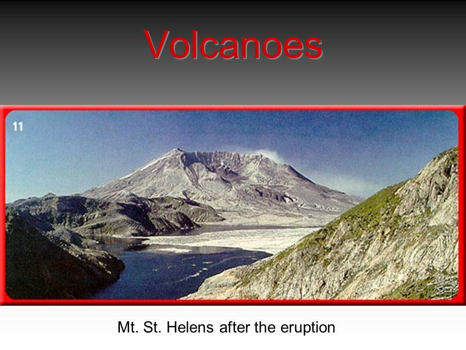 Volcanoes Mt. St. Helens after the eruption