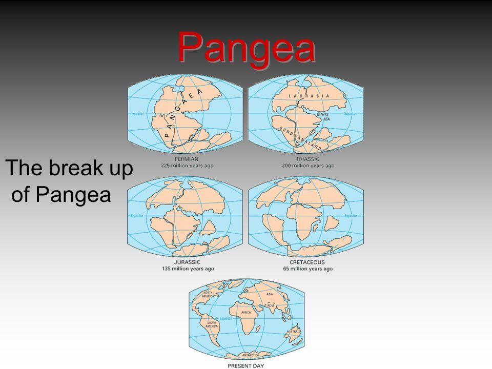 The break up of Pangea