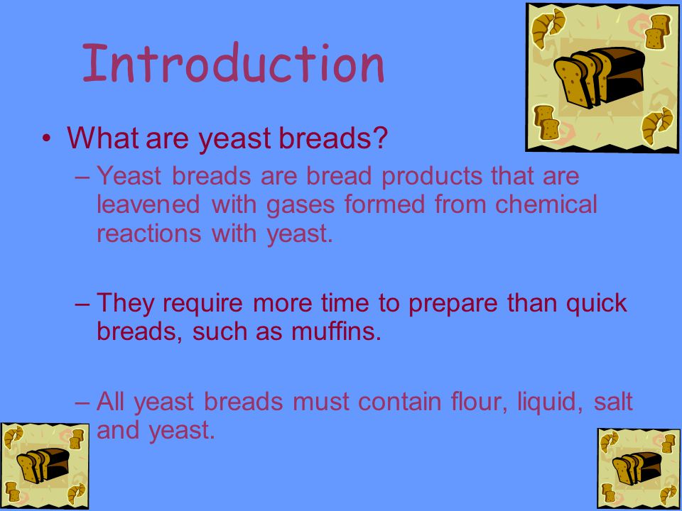 Introduction What are yeast breads.