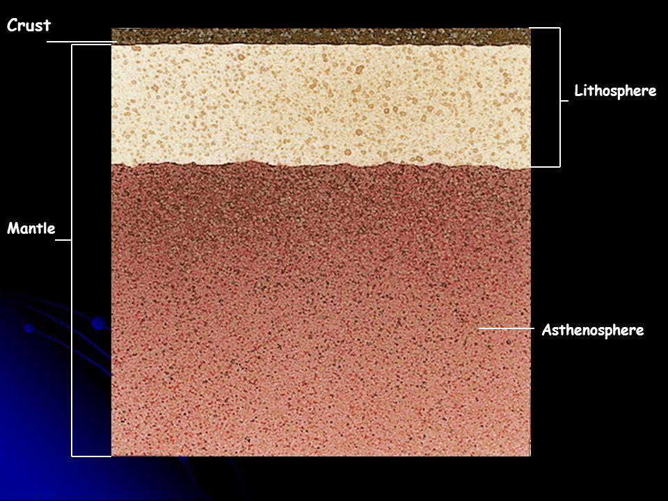 Crust Mantle Lithosphere Asthenosphere