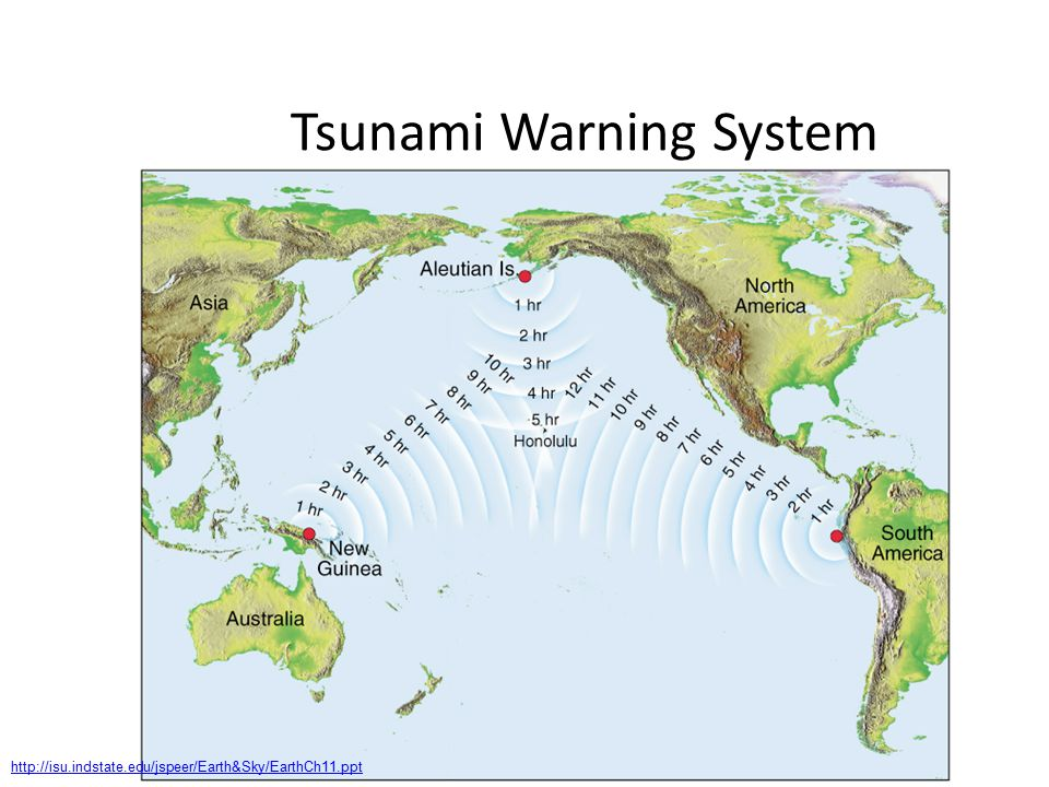 Tsunami Warning System http://isu.indstate.edu/jspeer/Earth&Sky/EarthCh11.ppt