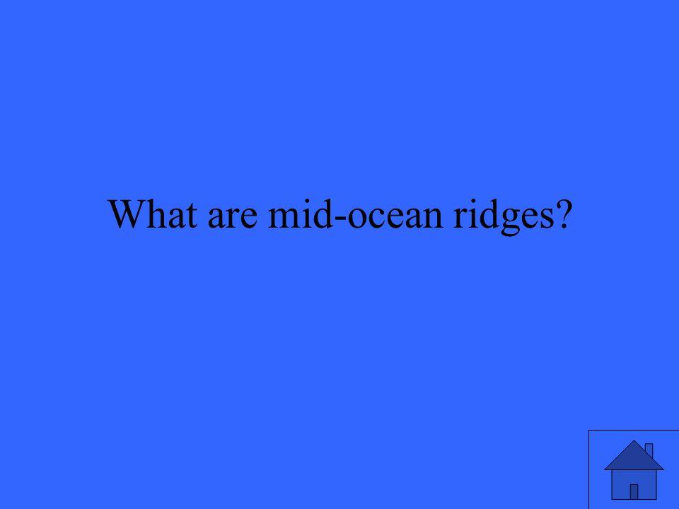 Huge underwater mountain ranges