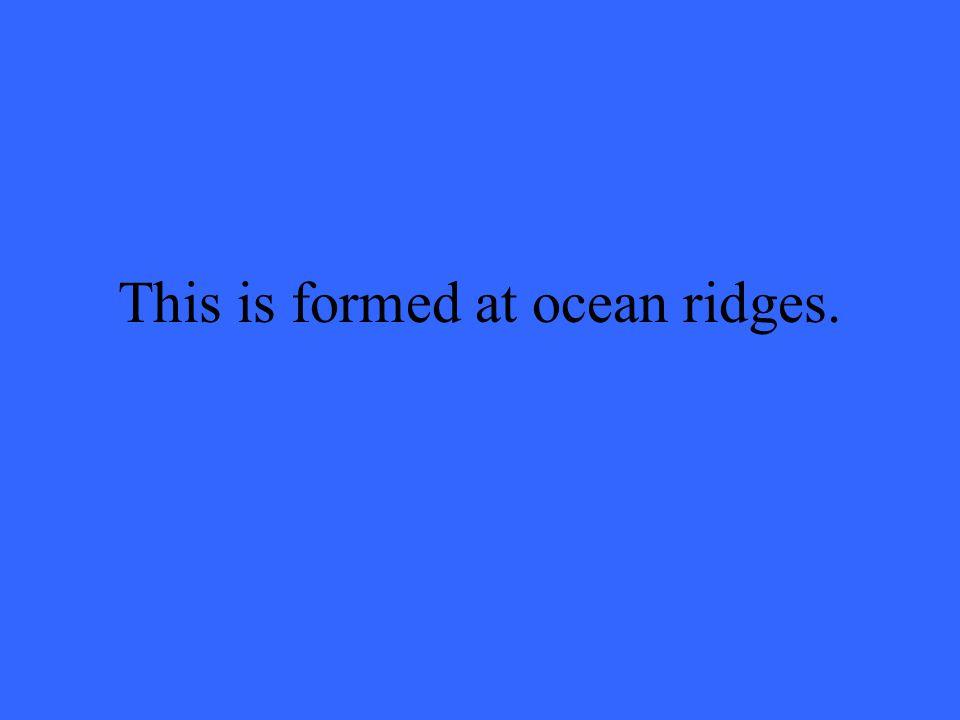 What are mid-ocean ridges?