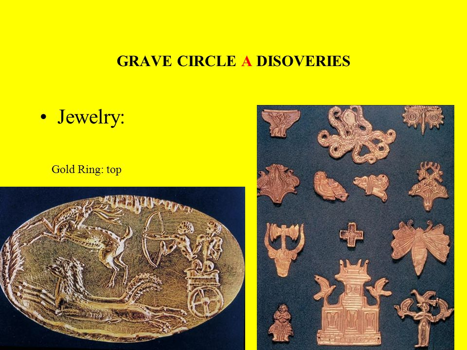 GRAVE CIRCLE A DISOVERIES Jewelry: Gold Ring: top