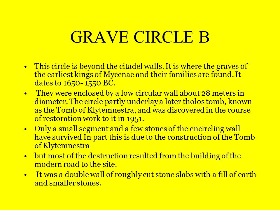 GRAVE CIRCLE B This circle is beyond the citadel walls.