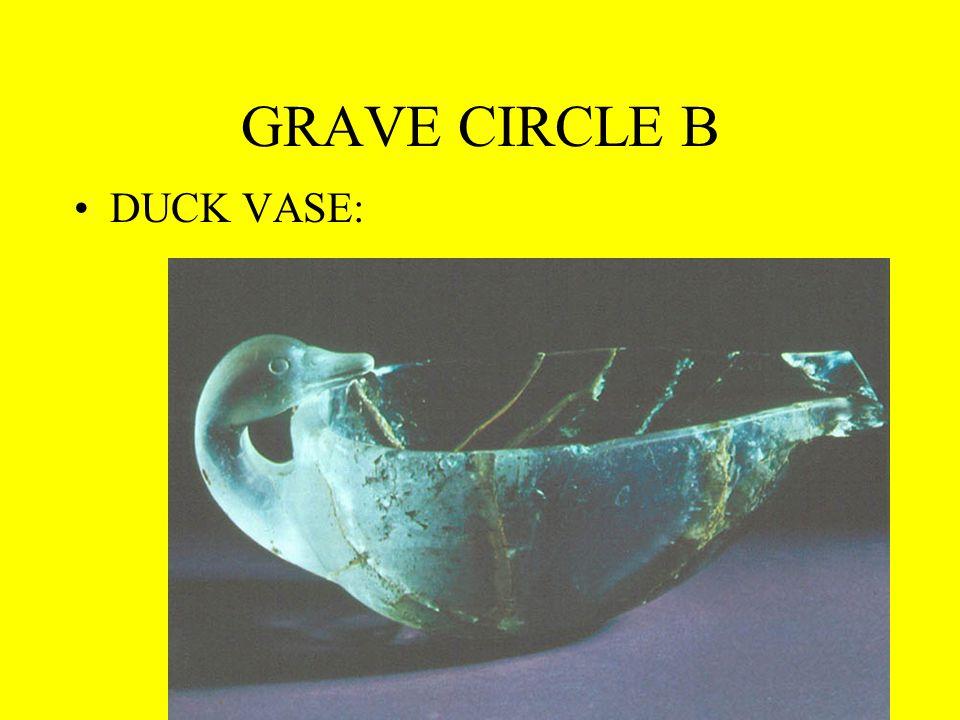 GRAVE CIRCLE B DUCK VASE: