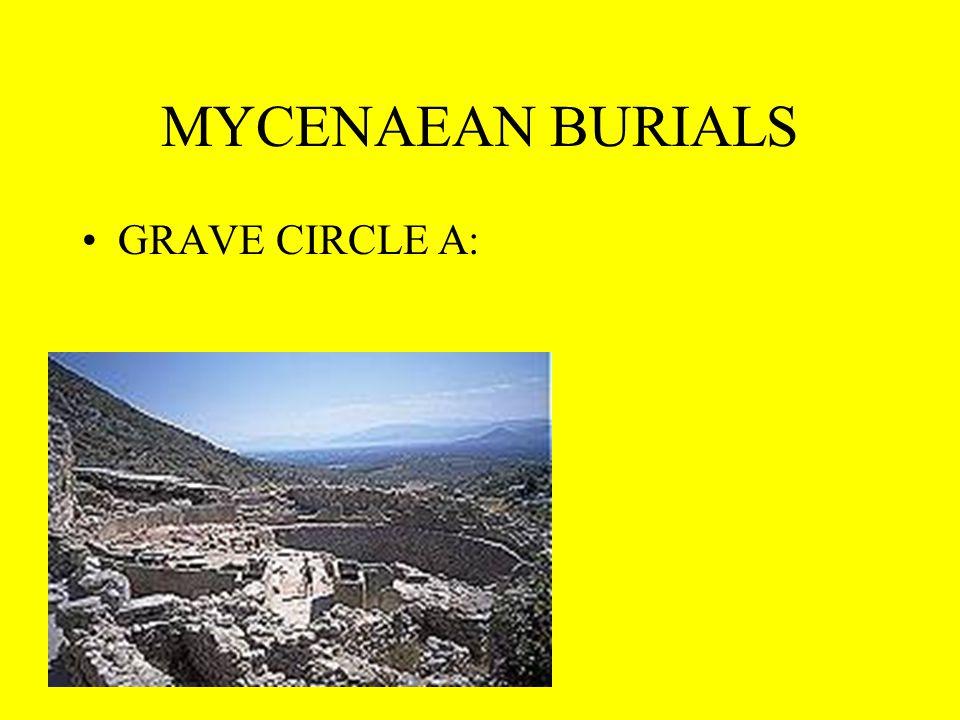 MYCENAEAN BURIALS GRAVE CIRCLE A: