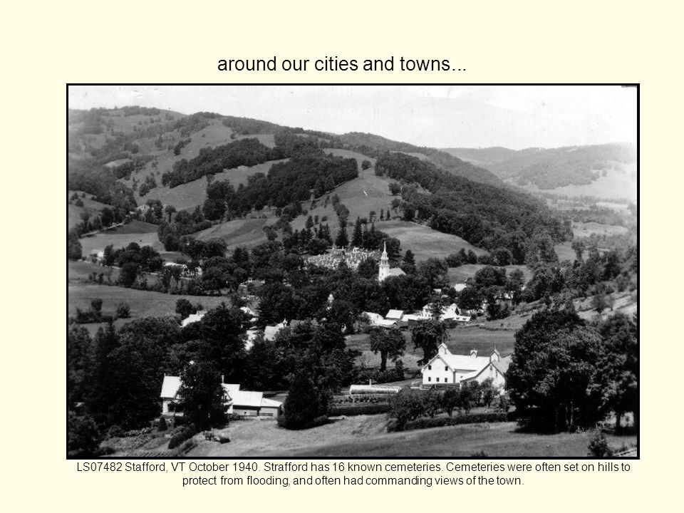 around our cities and towns... LS07482 Stafford, VT October 1940.
