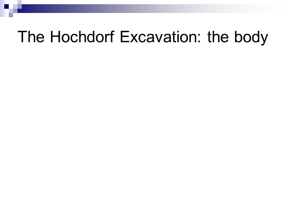 The Hochdorf Excavation: the body