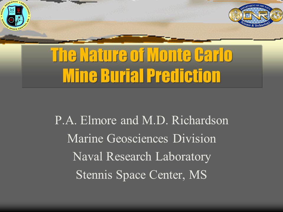 The Nature of Monte Carlo Mine Burial Prediction P.A.
