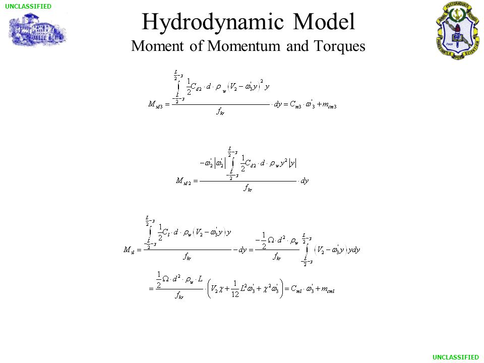 UNCLASSIFIED Hydrodynamic Model Moment of Momentum and Torques