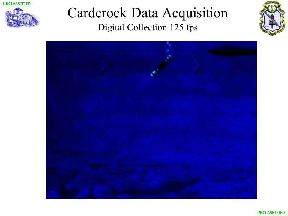 UNCLASSIFIED Carderock Data Acquisition Digital Collection 125 fps
