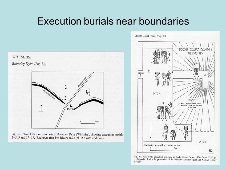 Execution burials near boundaries