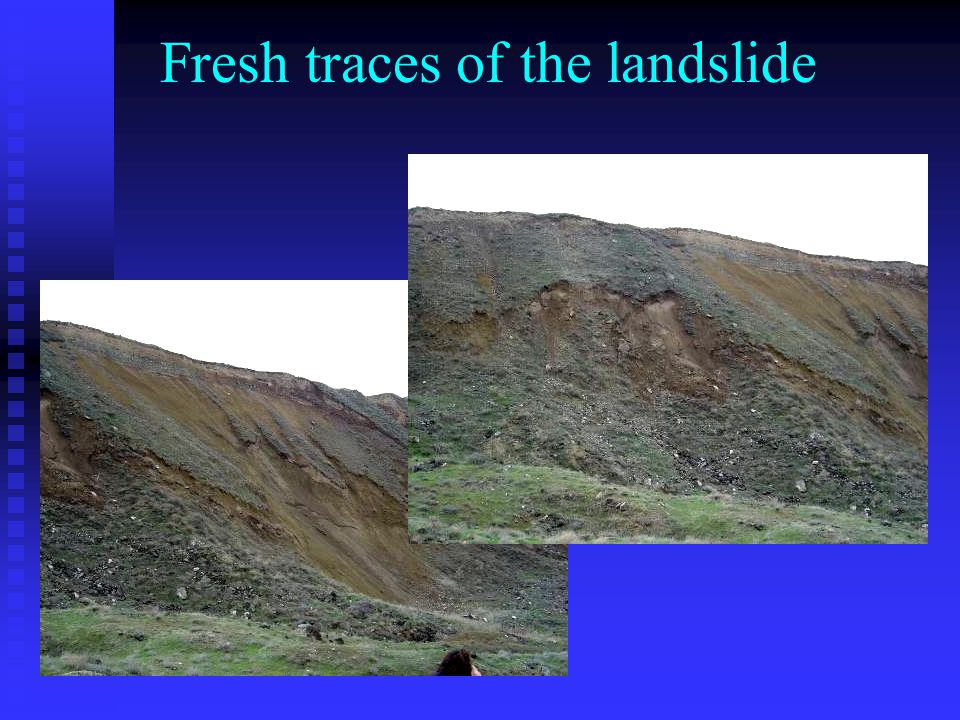 Fresh traces of the landslide