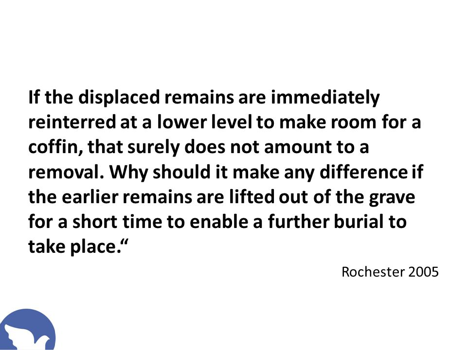 Parliamentary Select Committee Inquiry into Cemeteries If the public are to continue to have access to affordable, accessible (local) burial in cemeteries fit for the needs of the bereaved, there appears to be no alternative to grave reuse .