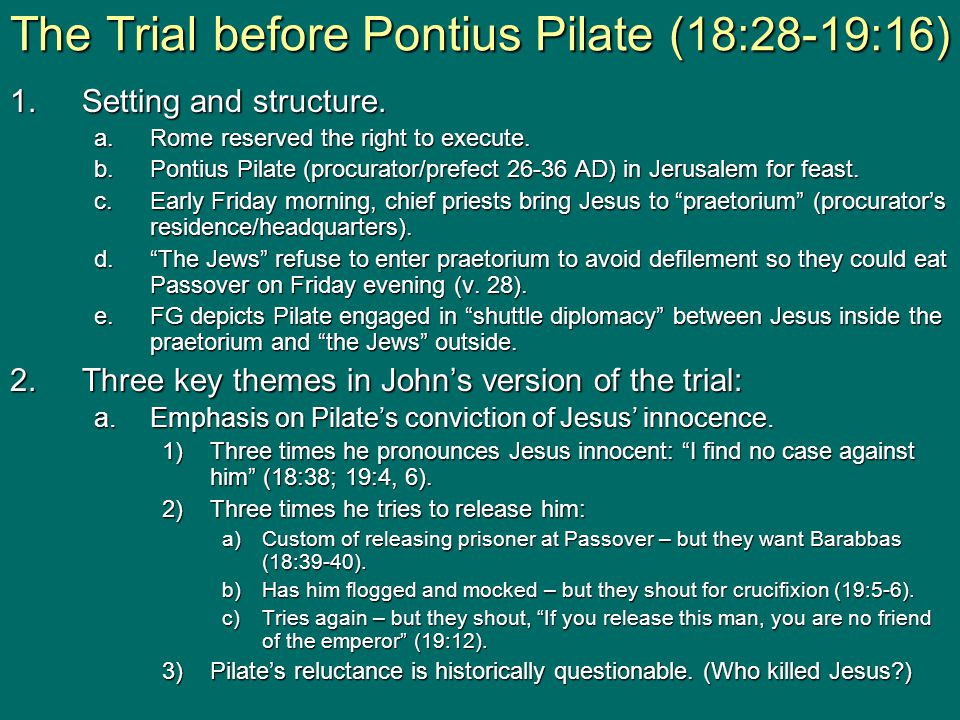 1.Setting and structure. a.Rome reserved the right to execute.