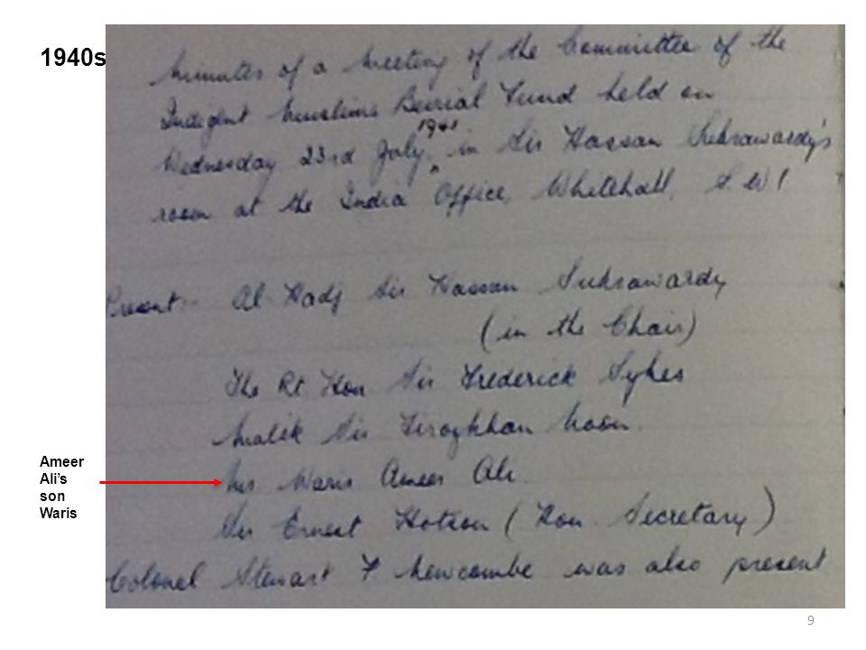 9 1940s Ameer Ali's son Waris