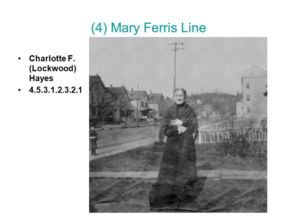 (4) Mary Ferris Line Charlotte F. (Lockwood) Hayes 4.5.3.1.2.3.2.1