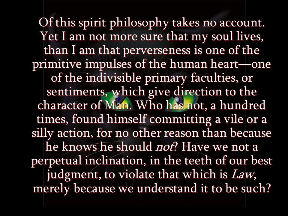 Of this spirit philosophy takes no account.