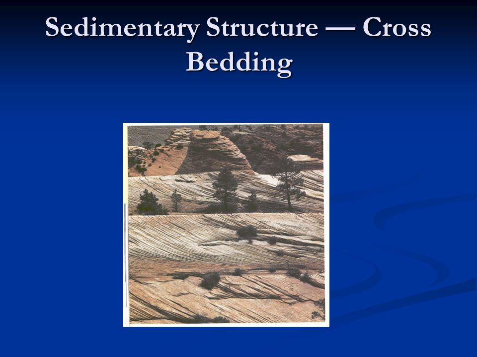 Sedimentary Structure — Cross Bedding