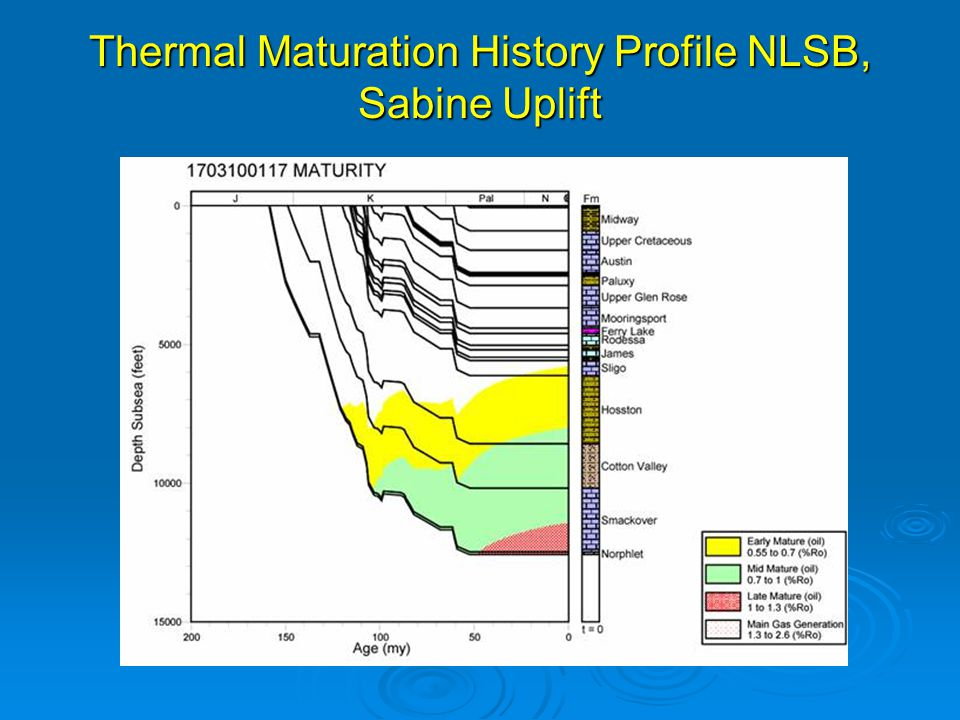 Thermal Maturation History Profile NLSB, Sabine Uplift