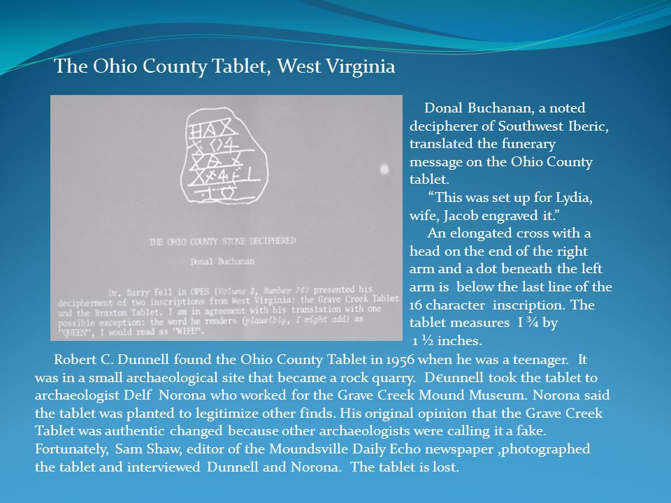 The Ohio County Tablet, West Virginia Robert C.