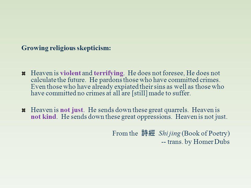 Religious Decline of the Warring States Period Shi jing 204 Shi jing 272 詩經