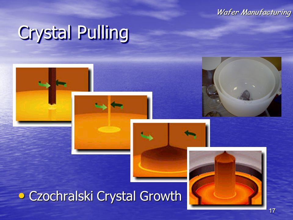 Crystal Pulling Czochralski Crystal Growth Czochralski Crystal Growth Wafer Manufacturing 17