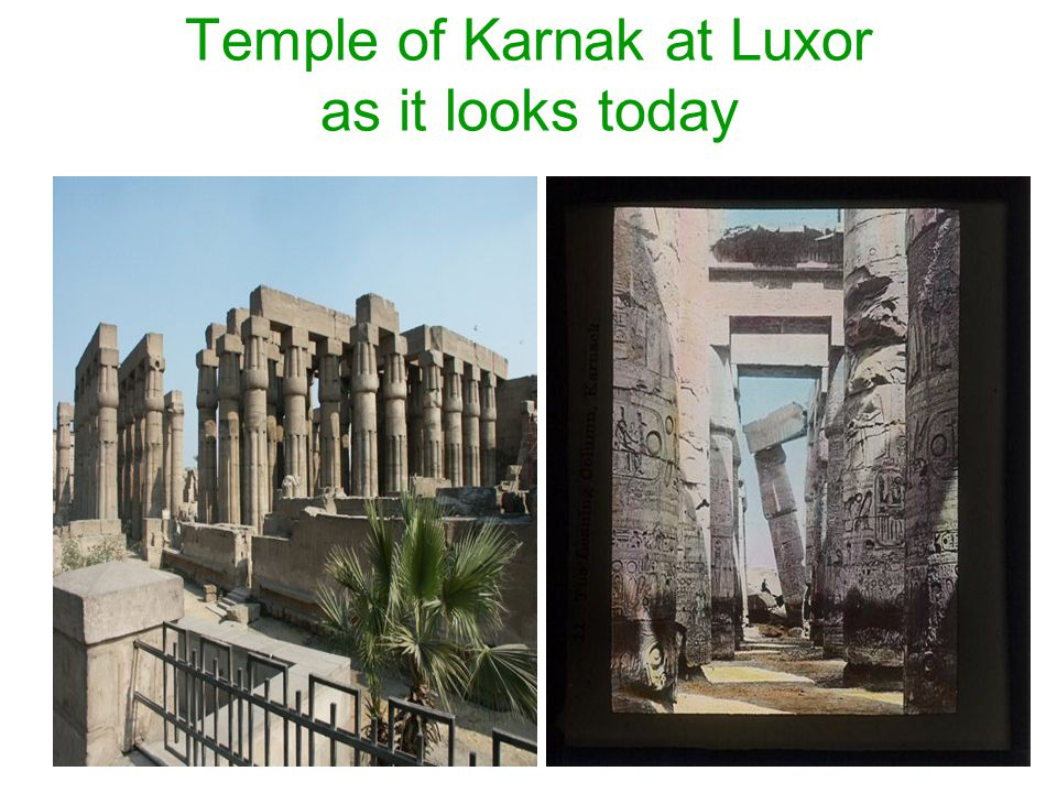 Temple of Karnak at Luxor as it looks today