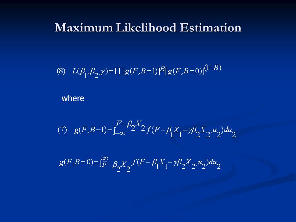 Maximum Likelihood Estimation where