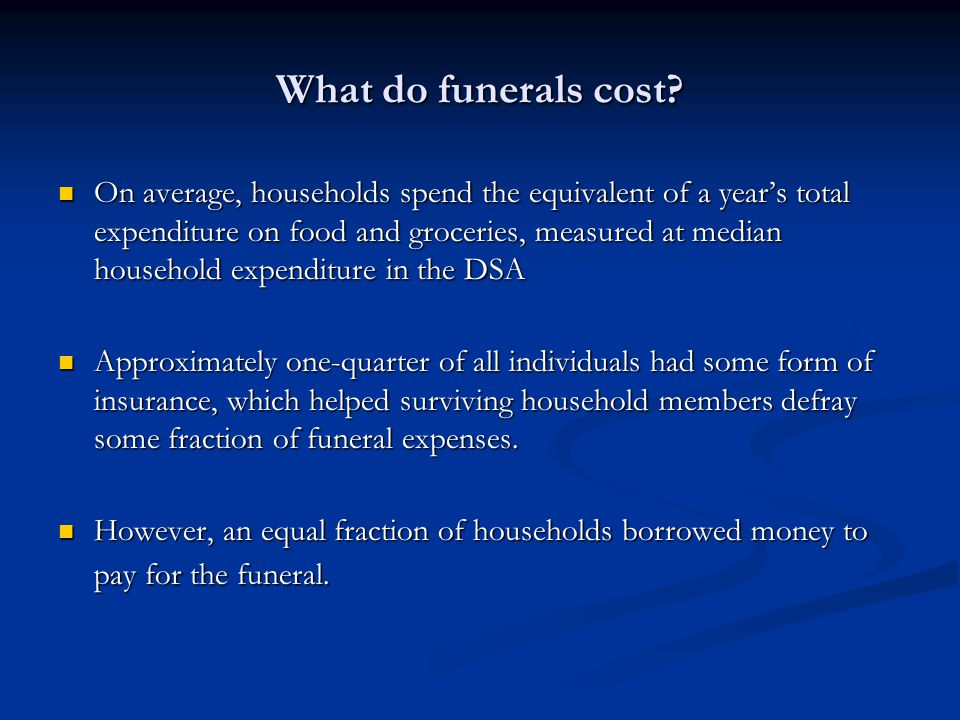 What do funerals cost.