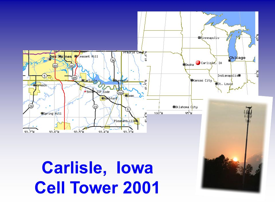Carlisle, Iowa Cell Tower 2001