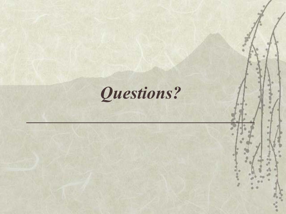 Questions __________________________