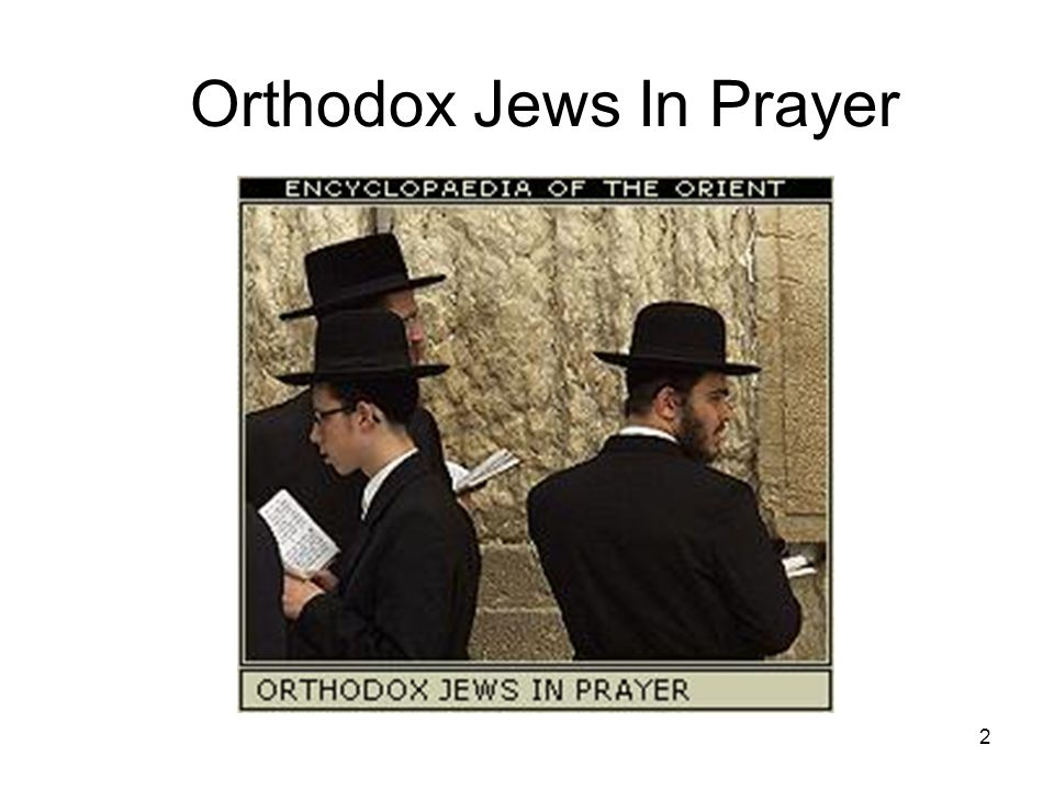 2 Orthodox Jews In Prayer