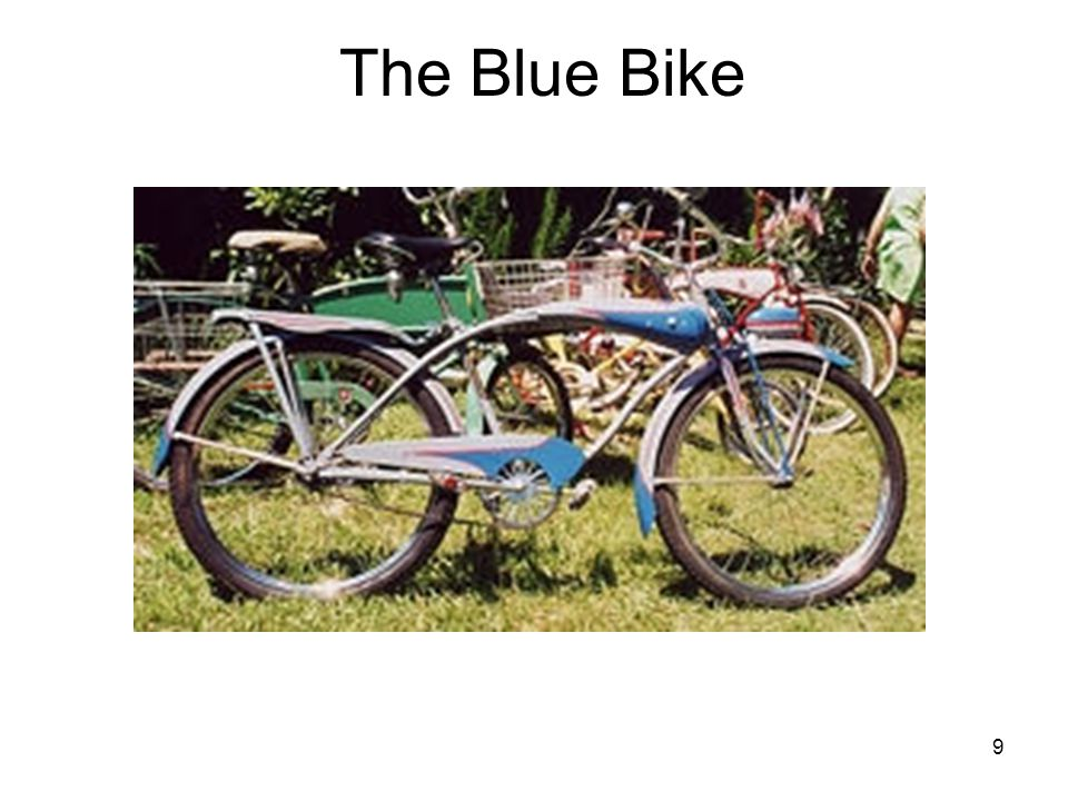 9 The Blue Bike