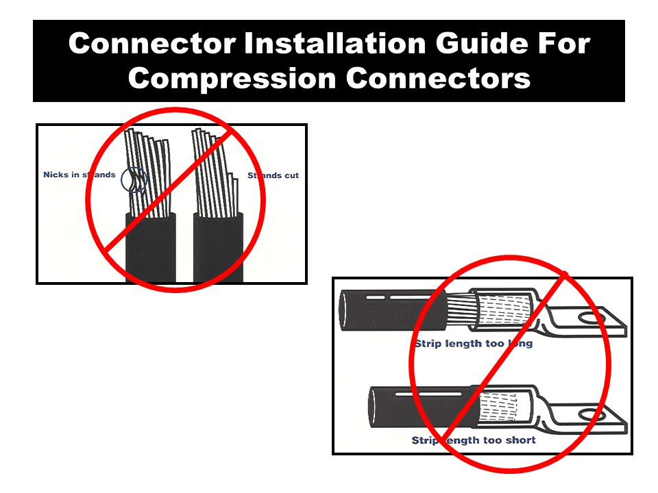 4.Insert the conductor (s) and tighten all set screws per the manufacturer's recommendations.