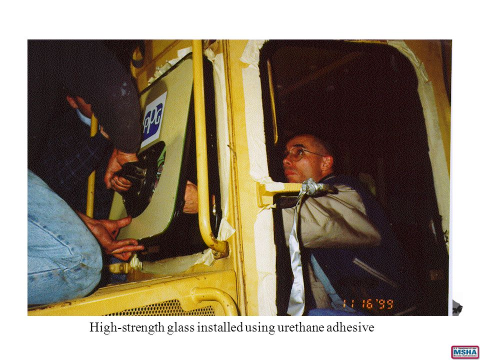 High-strength glass installed using urethane adhesive