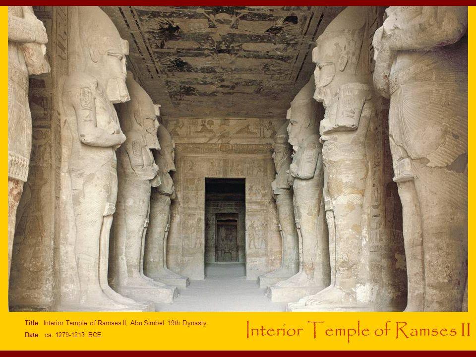 Title: Interior Temple of Ramses II, Abu Simbel.19th Dynasty.