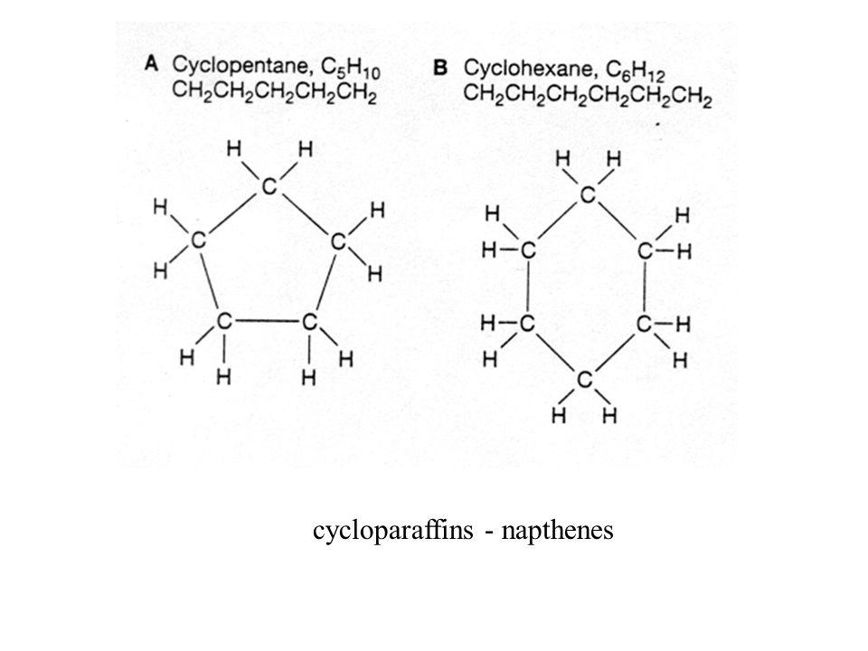 cycloparaffins - napthenes